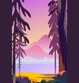 beautiful autumn landscape flat design concept vector image