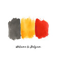 belgium watercolor national country flag icon vector image vector image