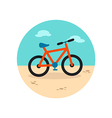 Bicycle icon Summer Vacation vector image vector image