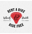 Bike Rental Retro Label or Logo Template vector image vector image