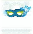 blue venetian carnival mask vector image