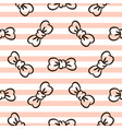bowknots on striped pink and white seamless vector image vector image