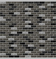 brick wall black grey vector image