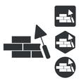 Building wall icon set monochrome vector image vector image