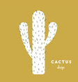 Cactus with needles vector image vector image