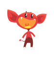 cartoon flat of devil with vector image vector image