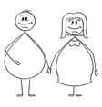 cartoon obese or overweight heterosexual vector image