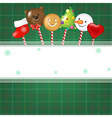 Christmas Card With Candies vector image vector image