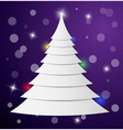 christmas tree from pieces of paper lying on top vector image vector image