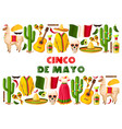 cinco de mayo holiday mexican greeting card vector image vector image