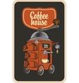 coffee grinder in a retro style vector image vector image