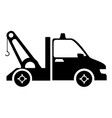crane truck isolated icon vector image vector image