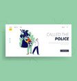criminal thief stealing money website landing page vector image vector image