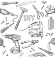 diy tools pattern vector image