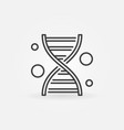 dna concept icon in thin line style vector image vector image