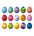 easter eggs design on white background vector image vector image