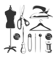 elements for tailor labels vector image vector image