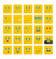 emoticons set flat icons for vector image vector image