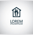 family home icon for web and ui on white vector image