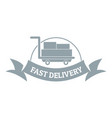 fast delivery logo simple gray style vector image