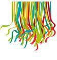 festive color ribbon design element vector image vector image