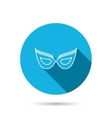 Festive mask icon Masquerade carnival sign vector image