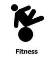 fitness icon simple style vector image