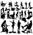fitness women vector image vector image
