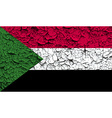 Flag of Sudan with old texture vector image