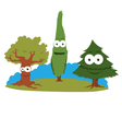 funny trees vector image vector image