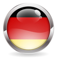 gloss button with german flag vector image vector image