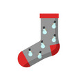 grey red snowman christmas sock vector image