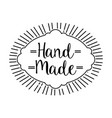 hand made handwriting emblem image vector image