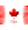 happy canada day holiday poster vector image vector image