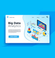 isometric big data analytics analytical vector image vector image