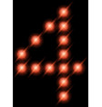led digits 4 vector image vector image