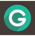 Letter G Logo Flat Icon Style vector image vector image
