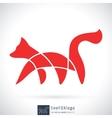 Line fox logo vector image