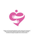 love hearth care logo concept love people logo vector image vector image