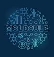 molecule blue modern round linear vector image