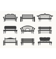 Outdoor benches icons vector image