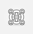 outsourcing concept icon with earth and vector image