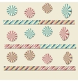 Paper colored circles vector image