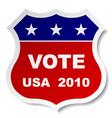patriotic vote sticker vector image vector image
