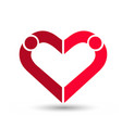 people couple creating a heart loving and caring vector image vector image