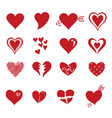red heart icon in trendy flat style isolated on vector image vector image