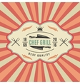 Retro Bbq Label vector image