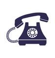 retro styled telephone ringing vector image
