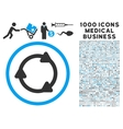 Rotate Back Icon with 1000 Medical Business vector image