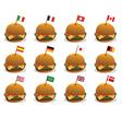 sandwich flags vector image